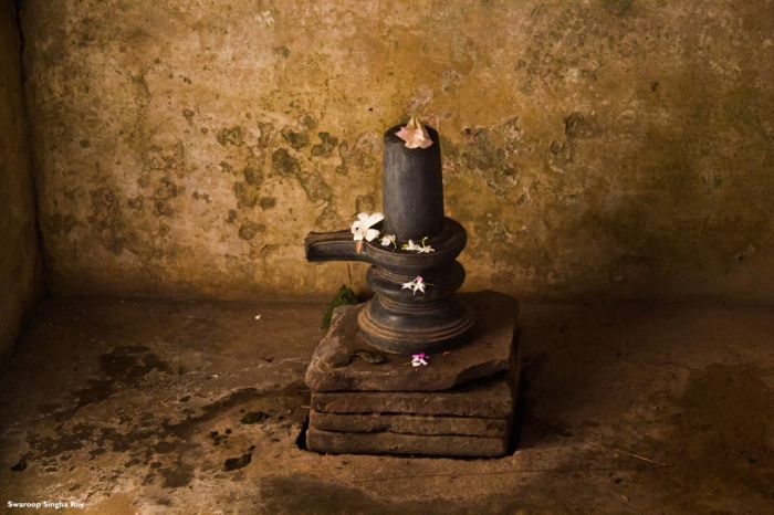 One of the four Shiva Lingas which are still in proper condition.